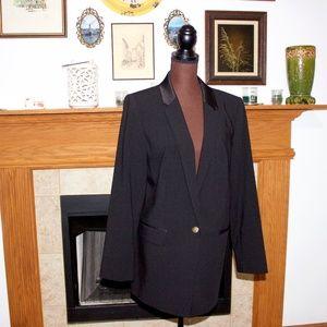 Calvin Klein Women's Black Blazer Size 14